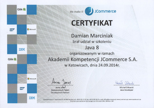 JCommerce academy: Java 8